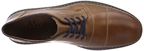 con de Zimt cuero 26 Rieker zapatos Toffee Braun Marrón Navy cordones 13421 hombre qOwOAHE