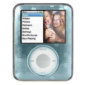 (Belkin F8Z238-BLU Remix Metal for iPod Nano 3rd Generation -Video (Blue)