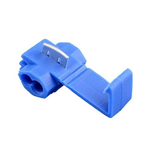 Sedeta® Hot 50pcs Blue Wire Terminals Quick Splice Connector Scotchlock 14-18 AWG:
