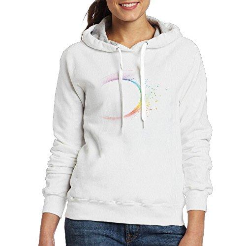 Uangdglu Custom 7 Colour Dazzle Light Women's Long Sleeve Hoodies M White