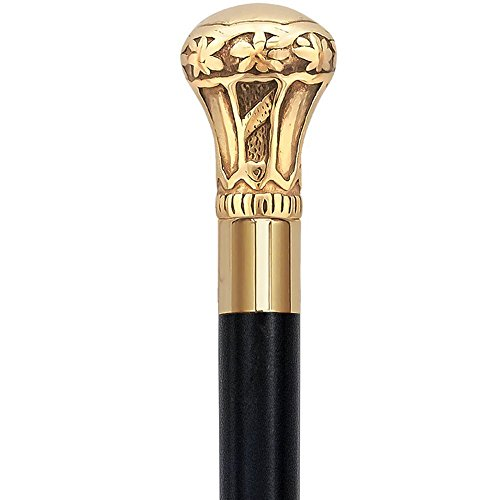 Handle Walking Stick - AnNafi® Replica of Bat Masterson Cane Brass Knob Handle Walking Cane Stick Victorian Cane With Solid Brass Inlay, Unisex Men Derby Cane Lightweight sturdy Folding Cane.Classic Men Walking Sticks