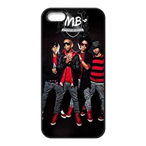 Custom DIY Design Music Band 15c Mindless Behavior Print Black Case With Hard Shell Cover for Apple iphone 5c