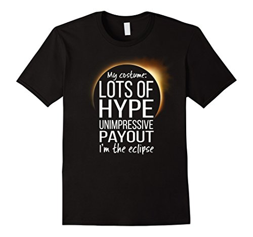 Hype Man Costume (Mens Funny Easy Eclipse Halloween Costume t-shirt 2XL Black)