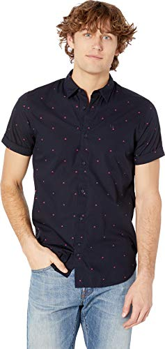 Scotch & Soda Men's Regular Fit - All Over Printed Short Sleeve Shirt Combo D - Soda Scotch And