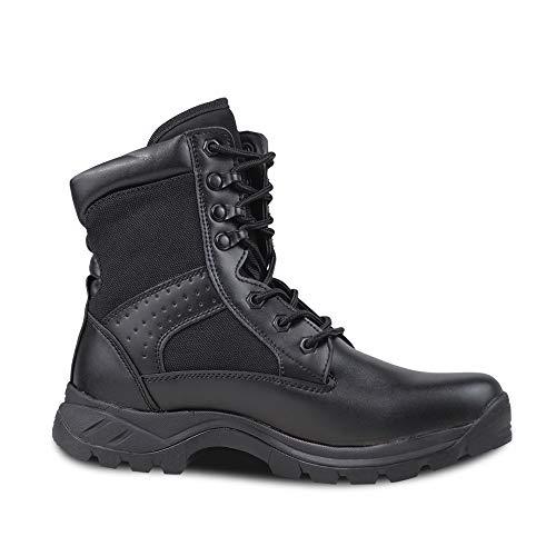 8 Negro Cordones Cómodas Pulgadas Botas Respirable Hombre top Con Ultraligero Ludey Militares 38 Impermeable High Calzado Eu XOw8qz6