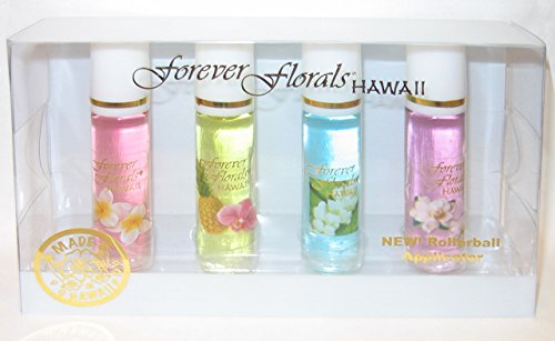 - Forever Florals Hawaii Assorted 4-Pack Cologne Set with Rollerball Applicator