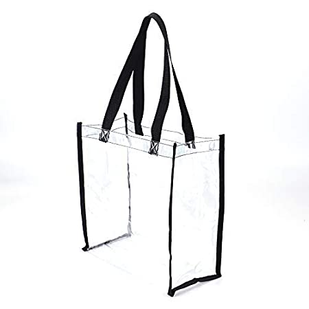 Jomparo Clear Tote Bag Stadium Approved Clear Bag Perfect for Work Sports Games Shopping 12X 12X 6
