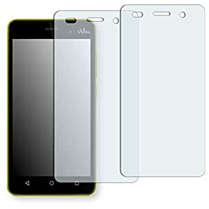 "2 x protectores pantalla Golebo para Wiko Lenny 3. Lámina protectora adhesiva invisible ""Crystal Clear"". Fabricado en Alemania."