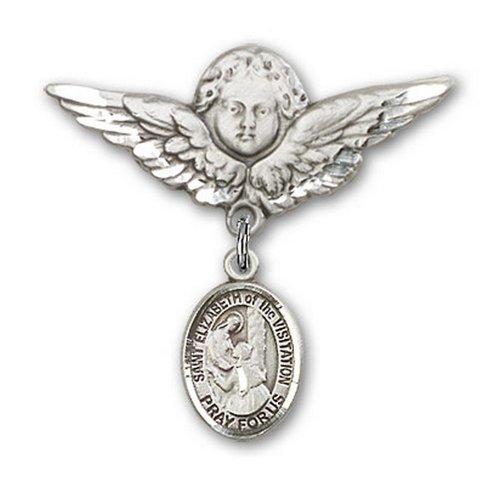 Icecarats Créatrice De Bijoux En Argent Sterling St. Elizabeth De La Broche De Badge Ange Charme De Visite