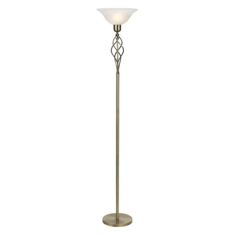 brass floor lamps alabaster shade