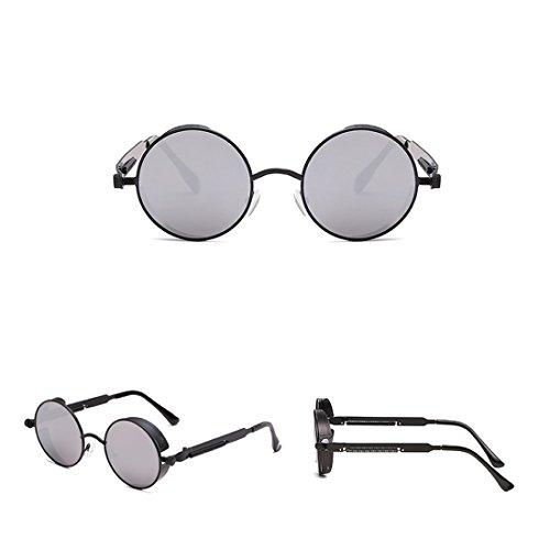 Soleil métal Cadre Royalmal Eye Protection Style Polarized Lunettes et en Zinc 5 la Poitrine Rond Care Les Alloy UV Steampunk Contre de Sunglasses qqrW81Up