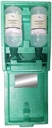 """Plus Rinse 48168 Large Duo Eyewash Kit, 5"""" Height, 10.5"""" Wide, 14.5"""" Length, 33.8 fl.oz. Volume"""