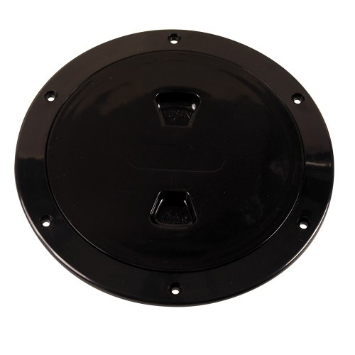 Beckson Twist-Out Deck Plate (6-Inch Black - Plates Beckson Deck