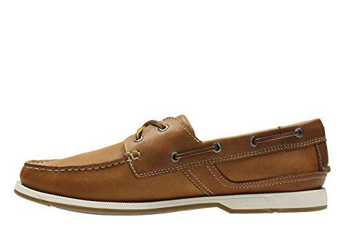 Clarks Vacaciones Hombre Zapatos Fulmen Row En Piel Marrón