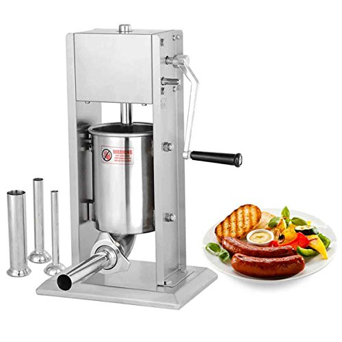 8LB Commercial SS Vertical Sausage Stuffer with 2 Speeds by LASHOP