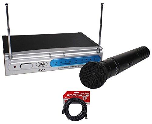 Peavey PV-1 U1 HH 906.00MHZ UHF Wireless Handheld Microphone System+XLR Cable (Peavey Wireless Mic)