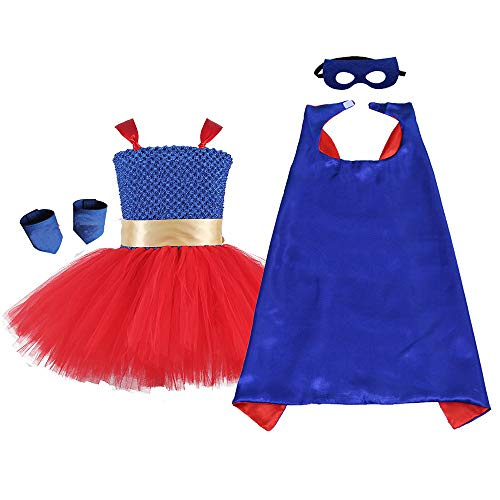 AQTOPS Supergirl Costume Girls Red]()