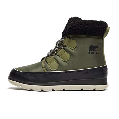SOREL Women's Explorer Carnival Boots, Hiker Green/Black, 6 M US ()