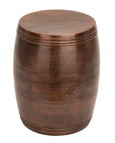 Deco 79 Benzara 31331 Vintage Inspire Metal Bronze Stool, 19 x 14, (Stool 19)