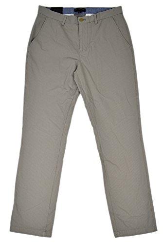 Banana Republic Men's Slim Fit Striped Pants Trousers Taupe Grey 32W x - Republic Banana Trousers