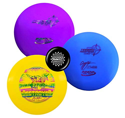 (Innova Disc Golf Premium Plastic Upgrade Set - Colors May Vary 170-180g - Improve Your Disc Golf Game with Predictability, Durability, and Performance (Star Plastic))