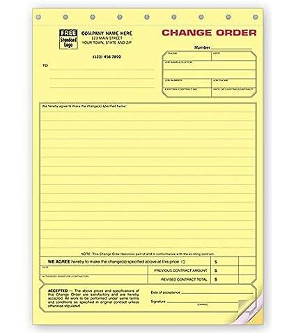 Amazon Com Contractors Change Order Form 271 By Nebs Deluxe 3