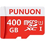 PUNUON Micro SD Card 400GB High Speed Class 10 Memory Micro SD SDXC Card with Adapter