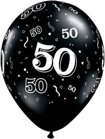Image Unavailable Not Available For Color 50th Birthday Balloons Biodegradable Black And White