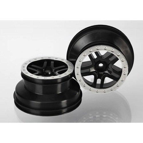 Traxxas SCT Split-Spoke, Blk Wheel (2): 2WD Rear, 4WD FR/R