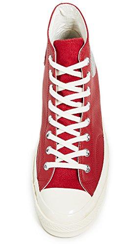 Converse Chuck Taylor Ctas 70 Hi Leather, Scarpe da Fitness Unisex – Adulto Rosso (Enamel Red/Wolf Grey/Egret 603)