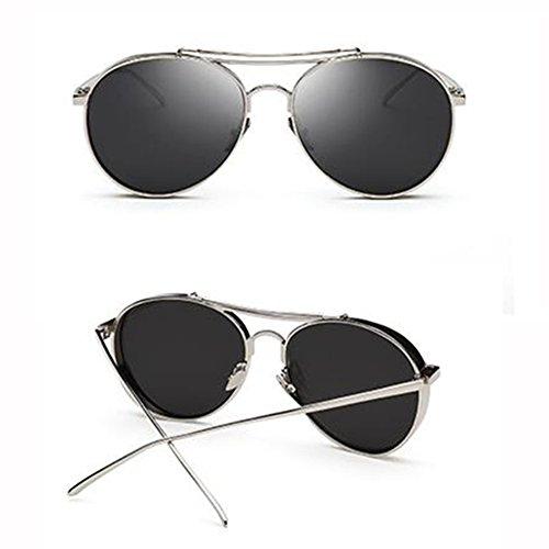 Color Sol De 4 3 Amantes xin Gafas WX Hembra Color Gafas Película Redonda Personalidad De Retro Cara 17wxFq