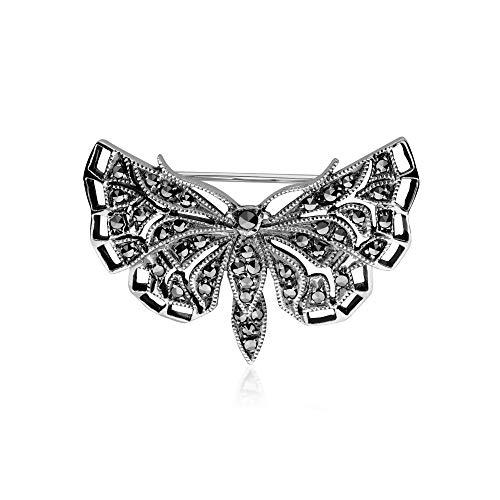 (Gemondo 925 Marcasite Butterfly Pin)