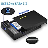 RSHTECH Hard Drive Enclosure USB 3.0 to External Hard Drive Docking Station for 2.5inch/ 3.5inch SATA I/II/III /HDD or SSD Case Support UASP & 8TB Drives (Black)