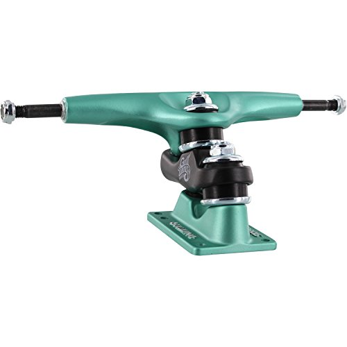 (Gullwing Trucks Sidewinder II Aqua/Black/Aqua Skateboard Double Kingpin Trucks - 159mm Hanger 9