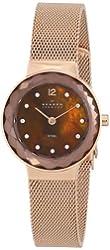 Skagen Women's 456SRR1 Leonora Quartz 2 Hand Stainless Steel Rose Gold-Tone Watch