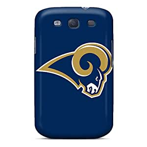 Scratch Resistant Hard Cell-phone Cases For Samsung Galaxy S3 With Custom Beautiful St. Louis Rams Image JohnPrimeauMaurice