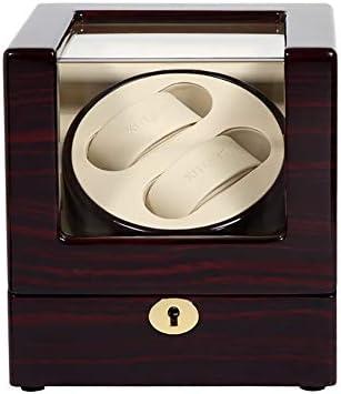 Audivik Caja Giratoria Reloj Automatico Bateria,Watch Winder 2 Relojes Pilas,Caja para Relojes Automaticos,Caja Giratoria para Relojes,Marrón: Amazon.es: Deportes y aire libre