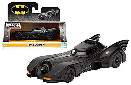 (Jada, 98226 1: 32 W/B-Metals-1989 Batmobile 1 W/B (8Piece), Black)