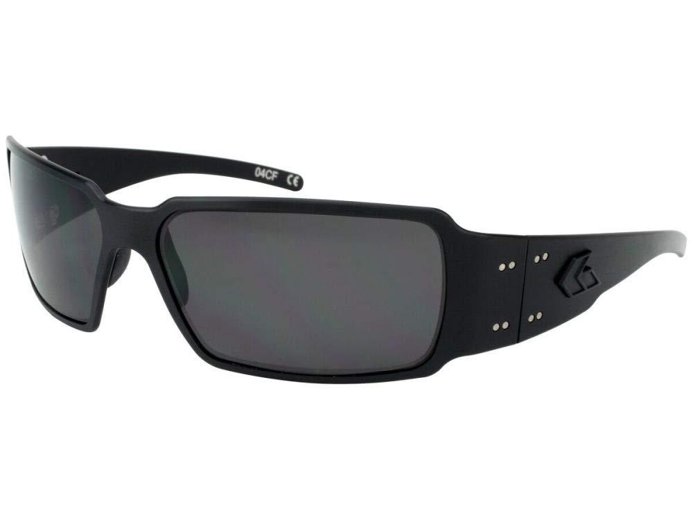 Gatorz Eyewear, Boxster Model, Aluminum Frame Sunglasses -  Blackout Tactical Style/Smoked Polarized Lens