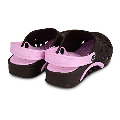 Ladies Womens Coolers Nursing Hospital Kitchen Gardening Beach Holidays Clogs Sizes UK 4-8 Brown/Pink 1xFIsyUeZ3