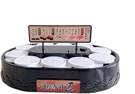 JVSISM Household Conveyor Belt Sushi Toy Train Electric Track Conveyor Belt Rotating Table