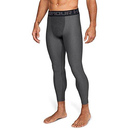 Under Armour Men's HeatGear Armour Compression Leggings, Carbon Heather /Black, XXX-Large -