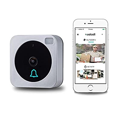Vuebell,WiFi Video Doorbell,Compatible with Alexa Echo Show, With Bonus Indoor Wireless Chime, netvue Cloud Storage,Night Version IR Motion Detection Alarm for IOS/Android (vuebell) by NETVUE