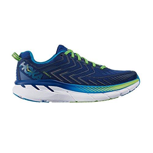 Hoka 1016723-tbjg: Clifton 4 Echte Blauwe Jasmijn Groene Heren Sneakers (7 D (m)