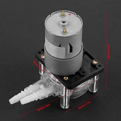 Schlauchpumpe 12V Schlauchpumpe, Wasserperistaltikpumpenröhrchen, DC 12V Hochvakuum peristaltikpumpenröhrchen für Aquarium Lab Analytical