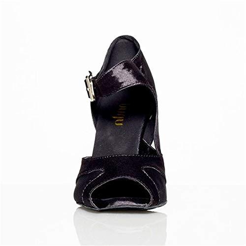 Mujeres Baile Baile Zapatos de de Baile negro Shangyi Zapatillas para Zapatos Latino Baile de Cuadrados de Zapatos Baile salón de Zapatos de zq4B4f7nxw