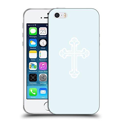 GoGoMobile Coque de Protection TPU Silicone Case pour // Q09380619 Croix chrétienne 48 Bulles // Apple iPhone 5 5S 5G SE