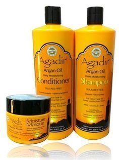 Agadir Argan Oil Daily Shampoo + Conditioner 33.8oz + Moisture Masque 8oz