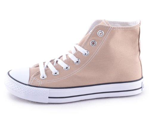 Mixmatch24 - Zapatillas de lona para mujer beige - caqui