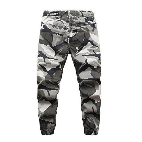LOKTARC Boys Pull On Jogger Pants Camo Print Cuff Jogging Bottoms Grey(Regular Fit) 13-14T by LOKTARC (Image #2)